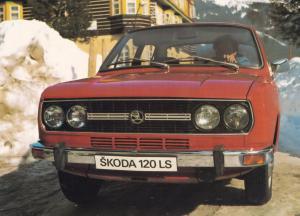Skoda Classic Car Motokov Praha Czechoslovakia Postcard