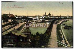 Old Postcard Metz Blick von der Eisenbahnbruck