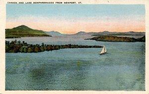 VT -  Newport. Canada and Lake Memphremagog