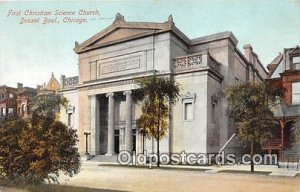 Churches Vintage Postcard Drexel Boul, Chicago, USA 1908