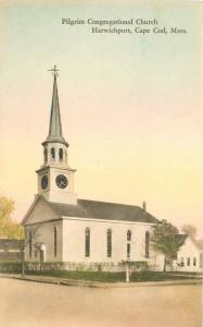 1920s Harwichport Cape Cod Massachusetts Pilgrim Congregational Church 2479