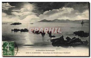 Old Postcard Collection Cannes Artistic Sunset on the Esterel