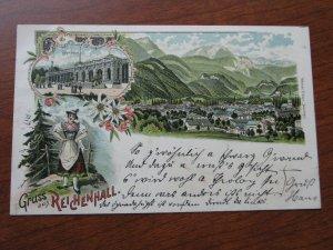 Bavaria Postcard Gruss Aus Reichenhall 1896 Postmark UDB Used