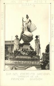 el salvador, SAN SALVADOR, Fiestas Agostinas Dia del Ejercito Nacional 1924 RPPC
