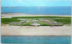 South Padre Island, Texas Postcard SEA ISLAND RESORT HOTEL Beach View c1960s