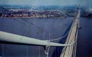 DE - New Castle. Delaware Memorial Bridge, New Jersey in the distance