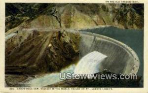 Arrow Rock Dam, ID, Post Cards;   Arrow Rock Dam, Idaho Arrow Rock Dam ID 1924