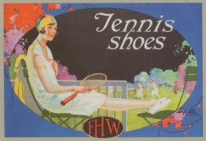Tennis Shoes FHW Sports Poster Advertising Postcard