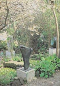 Dame Barbara Hepworth Garden With Torso II Sculpture Tate Gallery Postcard