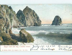 Pre-1907 SUGARLOAF AND BAY Catalina Island - Los Angeles California CA A0969