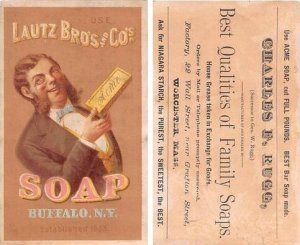 Lautz Bros & Co Soaps Approx Size Inches = 3.25 x 5.25 Trade Card Unused