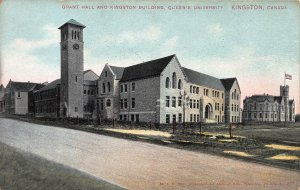 Grant Hall and Kingston Bldg., Queens Univ., Kingston, Canada, Early Postcard