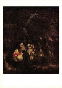 Art Postcard, The Adoration of the Shepherds by Van Rijn Rembrandt DH5