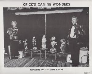 Cricks Canine Wonders New Faces 1970s TV Winner Dog Act Early Publicity Photo