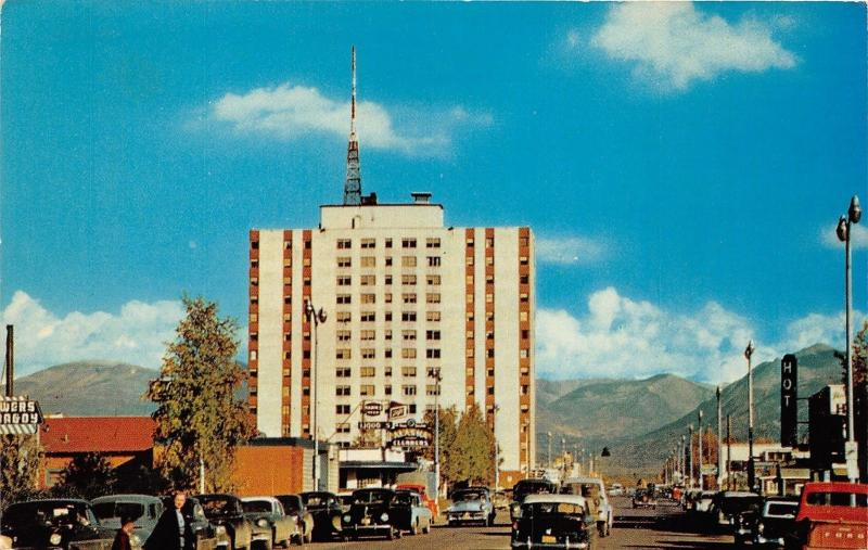 Anchorage Alaska~Street Scene~Mt McKinley Apartments Building~50s Ford Truck