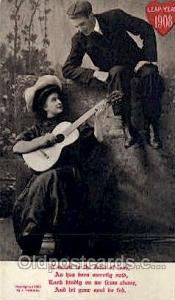 Leap Year 1908 Western Postcard Postcards  Leap Year 1908