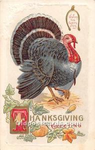 Thanksgiving writing on back