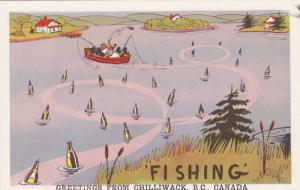 Comic: Fishermen Tossing Empty Beer Bottles Into Lake from Boat Fishing Chi...
