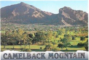 US Arizona. Camelback Mountain from Paradise Valley.  Unused