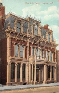 Hudson New York Elks Club Antique Postcard J44761
