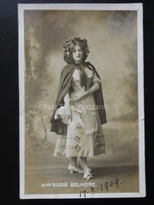 Actress MISS SUSIE BELMORE c1909 RP Postcard