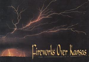 Kansas Lightning Over Kansas Night Sky