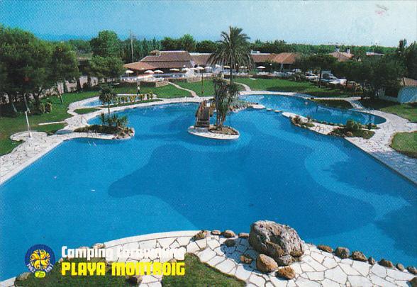 Spain Cambrils Tarragona Camping Caravanning Playa Montroig Swimming Pool Hippostcard