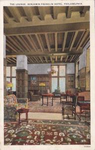 Pennsylvania Philadelphia Benjamin Franklin Hotel The Lounge 1926