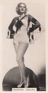 Marion Dolan Hollywood Actress Rare Real Photo Cigarette Card