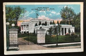 498 on 1920 White House photo, Vic's Stamp Stash/Postcards