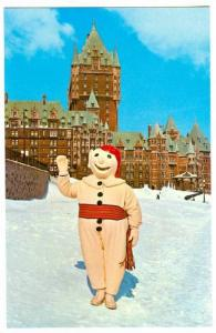 Bonhomme Carnival and Chateau Frontenac, Winter Carnival, Quebec City, Canada...