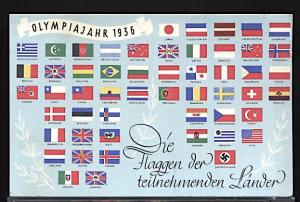 Summer Olympic Games Berlin 1936 Flags of the Participating Countries Type I