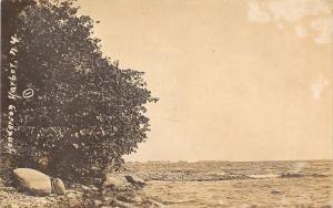 Henderson Bay Harbor New York~At the Edge of the 1000 Islands~Postcard RPPC 1908