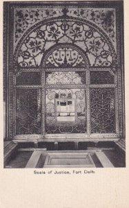 DELHI, India, 1930-1950s; Scale Of Justice, Fort Delhi