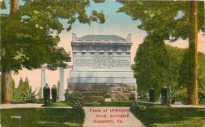 Arlington Virginia~Tomb of Unknown Dead at Arlington Cemetery 1910 PC