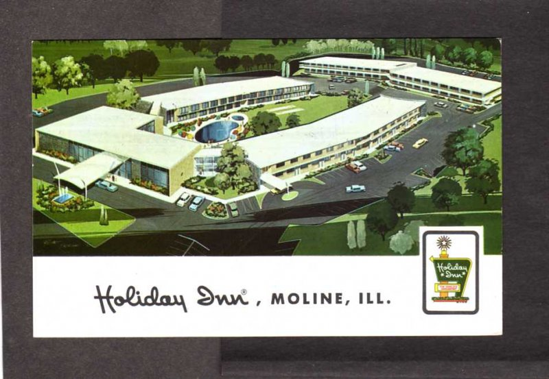 IL Holiday Inn Hotel Motel Moline Illinois Postcard