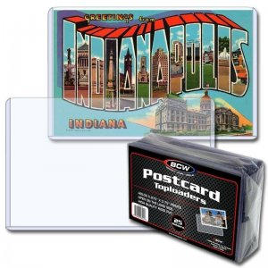 Pack of 25 BCW Postcard Toploader Holder Rigid Protector Plastic Clear Storage