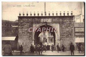 Old Postcard Tunis La Porte De France