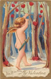 E67/ Valentine's Day Love Holiday Postcard c1910 Nash Series 3 Cupid Heart 5