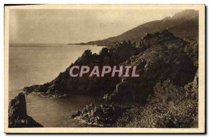Old Postcard Cote D & # 39Azur Trayas Les Rochers