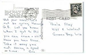 1967 Skycrest Motel, River Falls, WI Postcard *6E(3)24