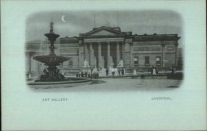 Liverpool England Early 1890s Smaller Format Postcard ART GALLERY