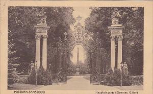 Germany Potsdam Sanssouci Haupteingang Eisenes Gitter 1915
