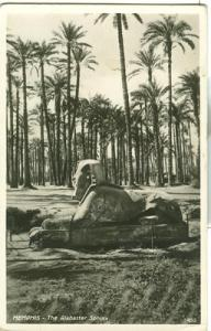 Egypt, Memphis, The Alabaster Sphinx, unused Real Photo P...