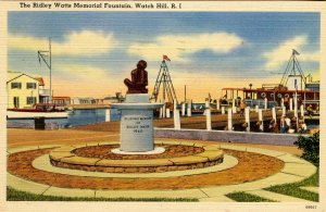 RI - Watch Hill. Ridley Watts Memorial Fountain