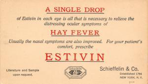 New York City~Schieffelin Co Hay Fever Cure Postal 1905 Dr F L Meyers Sheldon IA