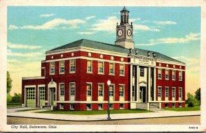 Ohio Delaware City Hall 1943 Curteich