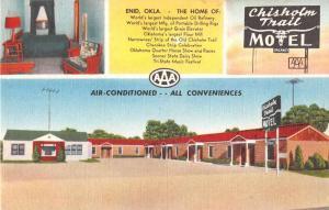 Enid Oklahoma scenic views Chisholm Trail Motel linen antique pc Y15659