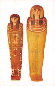 Chicago Illinois Natural History Museum~Egyptian Coffins~Mummy Tinto~Postcard
