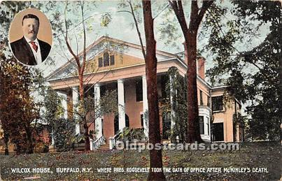 President Theodore Roosevelt Postcard Post Card Ansley Willcox Residence, Bu...